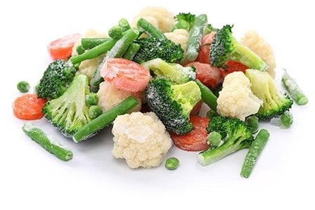 В идеале, транспортируйте замороженные овощи и фрукты, используя классную коробку.